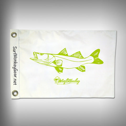 Fish Tournament Flag - Snook - Marine Grade - Boat Flag - SurfmonkeyGear