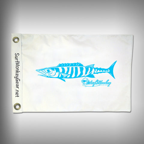 Fish Tournament Flag - Wahoo - Marine Grade - Boat Flag - SurfmonkeyGear