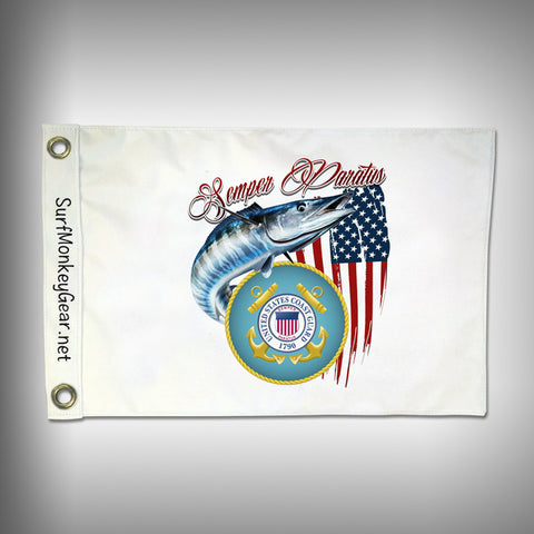Custom Fishing Coast Guard Flag - Marine Grade - Boat Flag - SurfmonkeyGear
