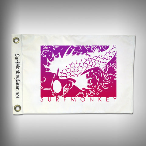 Custom Koi Fish Flag - Marine Grade - Boat Flag - SurfmonkeyGear