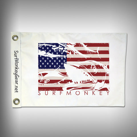 Custom US Kingfish Flag - Marine Grade - Boat Flag - SurfmonkeyGear