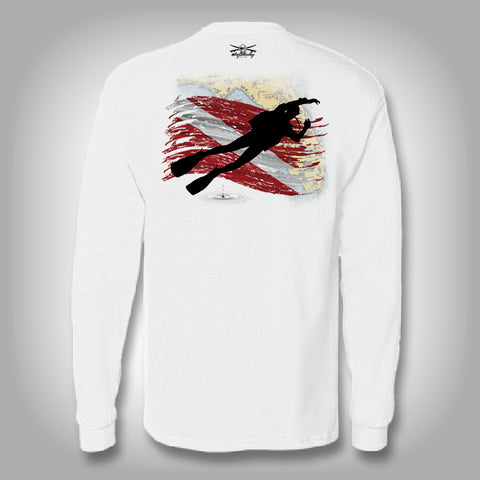 Florida Diver - Solar Performance Long Sleeve Shirts - Fishing Shirt