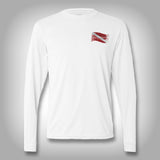 Spiny Lobster Dive Flag - Performance Shirt - Fishing Shirt