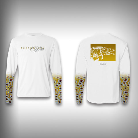 Brown Trout Scale Sleeve Shirt -  SurfMonkey - Performance Shirts - Fishing Shirt - SurfmonkeyGear
