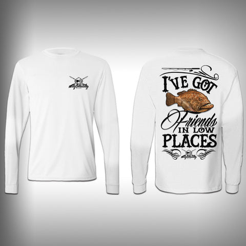 Grouper Low Places - Performance Shirts - Fishing Shirt - SurfmonkeyGear  - 1
