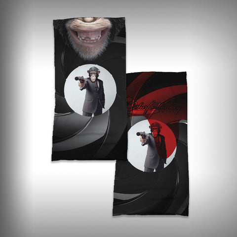 Monk Wrap Neck Gaiter / Face Shield - Secret Agent Monkey - SurfmonkeyGear