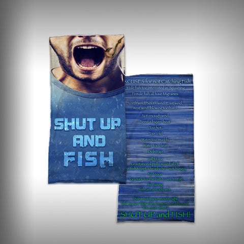 Monk Wrap Neck Gaiter - Face Shield - Bandana - Shut up and Fish - SurfmonkeyGear