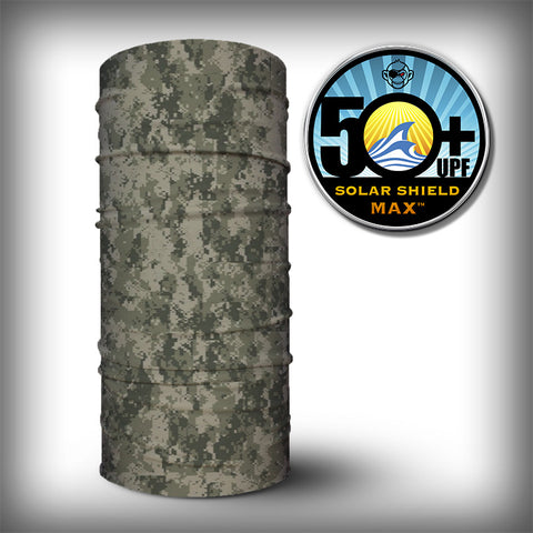 Monk Wrap Neck Gaiter / Face Shield - Digital Camo - SurfmonkeyGear