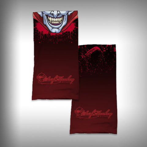 Monk Wrap Neck Gaiter / Face Shield - Dracula - SurfmonkeyGear
