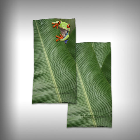 Monk Wrap Neck Gaiter - Face Shield - Bandana - Tree Frog - SurfmonkeyGear