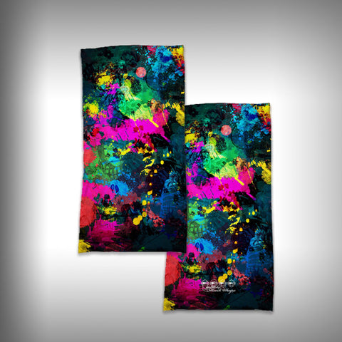 Monk Wrap Neck Gaiter - Face Shield - Bandana - Paint Splatter - SurfmonkeyGear