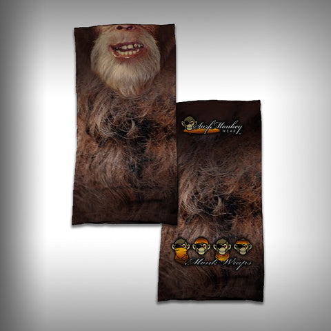 Monk Wrap Neck Gaiter / Face Shield - Big Foot - Sasquatch - SurfmonkeyGear