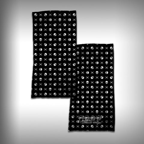 Monk Wrap Neck Gaiter - Face Shield - Bandana - Skull and Cross - SurfmonkeyGear