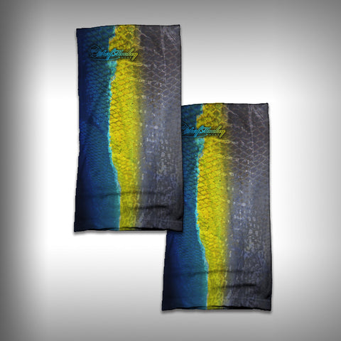 Monk Wrap Neck Gaiter / Face Shield - Yellowfin Tuna - SurfmonkeyGear