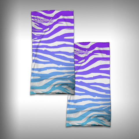 Monk Wrap Neck Gaiter / Face Shield - Zebra Bright - SurfmonkeyGear