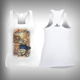 Grunge Pirate - Womens Tank Top - SurfmonkeyGear  - 1