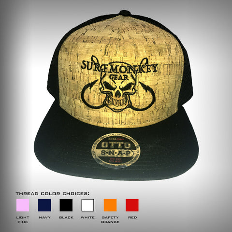 Cork Crown Trucker Cap Trucker Hat - SurfMonkey Skull & Hook - SurfmonkeyGear