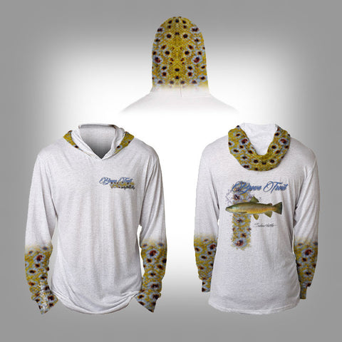 Surfmonkey Gear Fish Headzies™ Performance Solar Hoodie Shirt - Brown Trout - SurfmonkeyGear  - 1