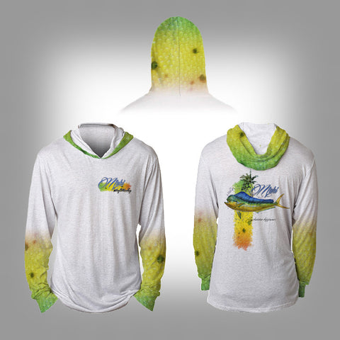 Surfmonkey Gear Fish Headzies™ Performance Solar Hoodie Shirt - Mahi - SurfmonkeyGear  - 1