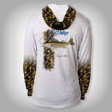 Surfmonkey Gear Fish Headzies™ Performance Solar Hoodie Shirt - Walleye