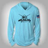 Surfmonkey Gear Performance Solar Hoodie Shirt - SM Logo Rods