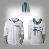 Surfmonkey Gear Fish Headzies™ Performance Solar Hoodie Shirt - Bluefin Tuna - SurfmonkeyGear  - 1