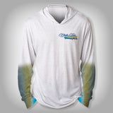 Surfmonkey Gear Fish Headzies™ Performance Solar Hoodie Shirt - Bluefin Tuna