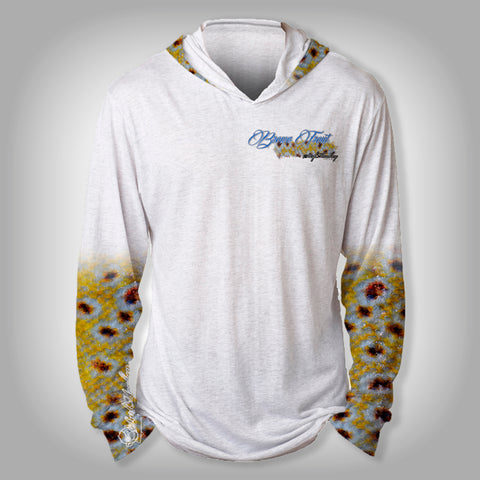 Surfmonkey Gear Fish Headzies™ Performance Solar Hoodie Shirt - Brown Trout