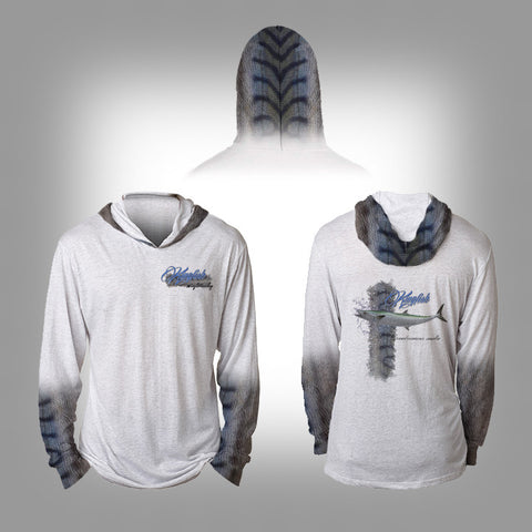 Surfmonkey Gear Fish Headzies™ Performance Solar Hoodie Shirt - King Fish - SurfmonkeyGear  - 1