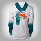 Surfmonkey Gear Fish Headzies™ Performance Solar Hoodie Shirt - Mermaid