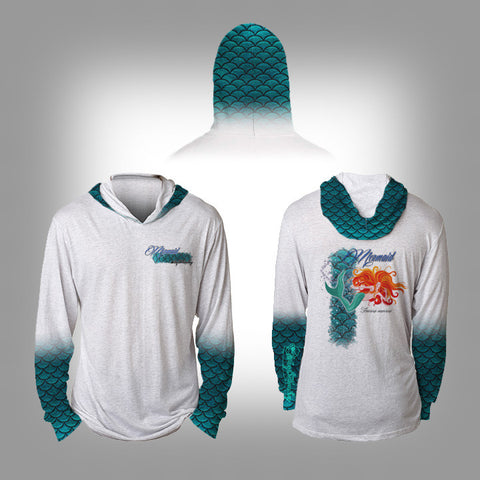 Surfmonkey Gear Fish Headzies™ Performance Solar Hoodie Shirt - Mermaid - SurfmonkeyGear  - 1