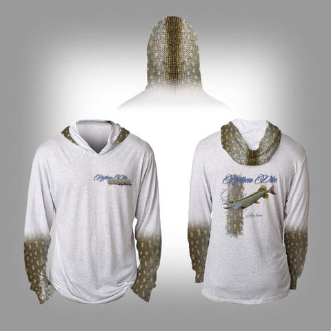 Surfmonkey Gear Fish Headzies™ Performance Solar Hoodie Shirt - Northern Pike - SurfmonkeyGear  - 1
