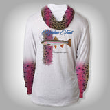 Surfmonkey Gear Fish Headzies™ Performance Solar Hoodie Shirt - Rainbow Trout