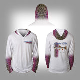 Surfmonkey Gear Fish Headzies™ Performance Solar Hoodie Shirt - Rainbow Trout - SurfmonkeyGear  - 1