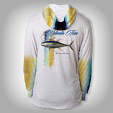 Surfmonkey Gear Fish Headzies™ Performance Solar Hoodie Shirt - Yellowfin Tuna