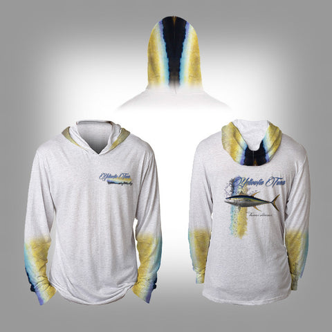 Surfmonkey Gear Fish Headzies™ Performance Solar Hoodie Shirt - Yellowfin Tuna - SurfmonkeyGear  - 1
