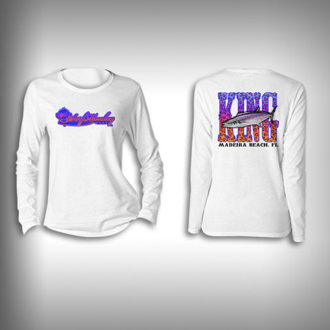Youth Kingfish SurfMonkey - Youth Performance Shirts - Fishing Shirt Purple King Fish - SurfmonkeyGear