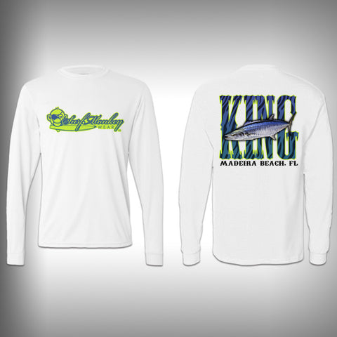 Youth Kingfish SurfMonkey - Youth Performance Shirts - Fishing Shirt Green King Fish - SurfmonkeyGear