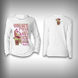 This Girl Runs on Ice Cream - Womens Performance Shirt - Fishing Shirt - SurfmonkeyGear  - 1