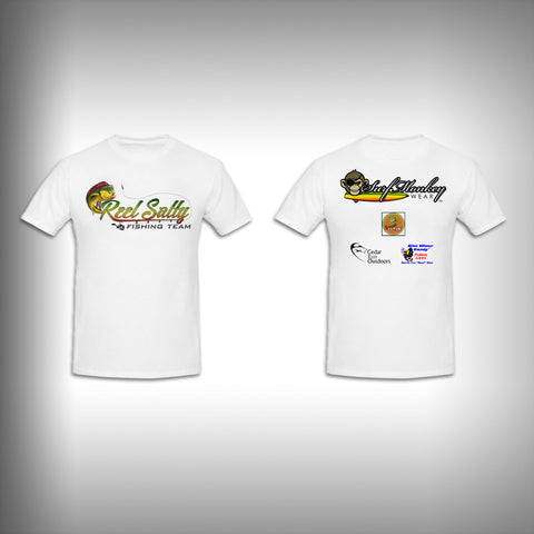 Youth Reel Salty SurfMonkey - Youth Performance Shirts - Fishing Shirt Short Sleeve - SurfmonkeyGear