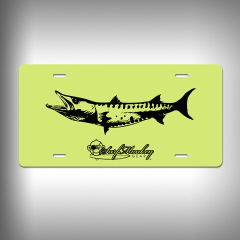 Barracuda Custom License Plate / Vanity Plate with Custom Text and Graphics Aluminum - SurfmonkeyGear