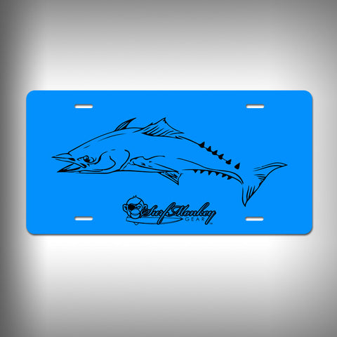 King Fish Custom License Plate / Vanity Plate with Custom Text and Graphics Aluminum - SurfmonkeyGear