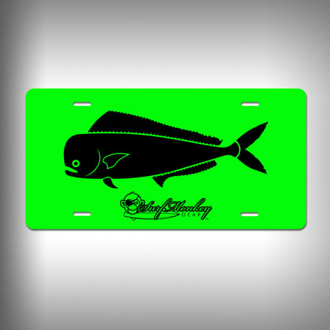 Mahi Custom License Plate / Vanity Plate with Custom Text and Graphics Aluminum - SurfmonkeyGear