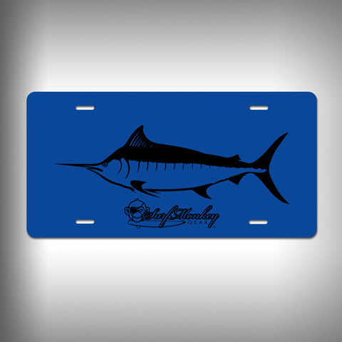Marlin Custom License Plate / Vanity Plate with Custom Text and Graphics Aluminum - SurfmonkeyGear