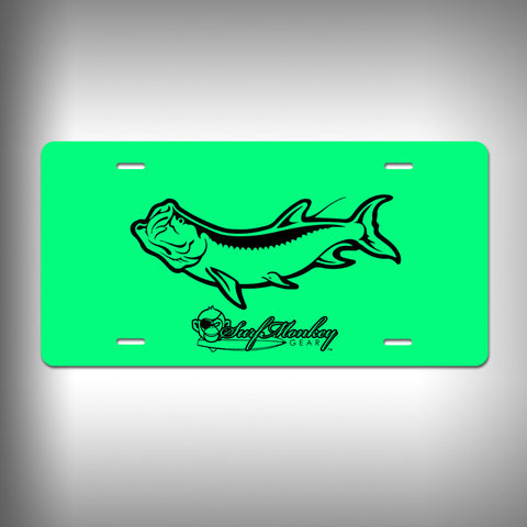 Tarpon Custom License Plate / Vanity Plate with Custom Text and Graphics Aluminum - SurfmonkeyGear