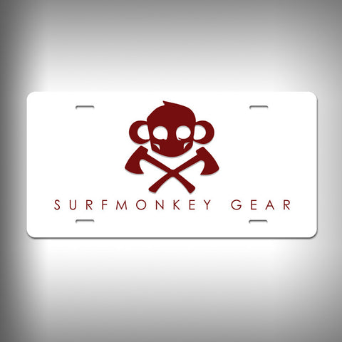 Killer Monkey Custom License Plate / Vanity Plate with Custom Text and Graphics Aluminum - SurfmonkeyGear