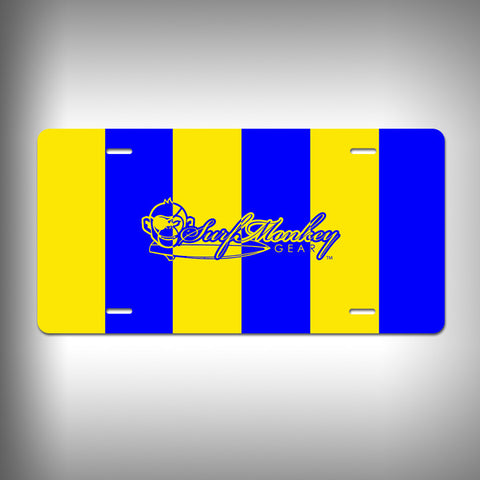 Nautical Golf Custom License Plate / Vanity Plate with Custom Text and Graphics Aluminum - SurfmonkeyGear