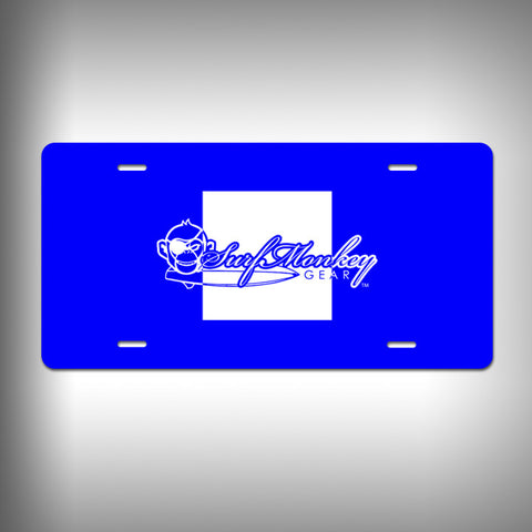 Nautical Papa Custom License Plate / Vanity Plate with Custom Text and Graphics Aluminum - SurfmonkeyGear