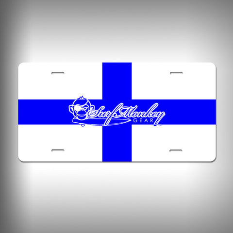 Nautical X-Ray Custom License Plate / Vanity Plate with Custom Text and Graphics Aluminum - SurfmonkeyGear