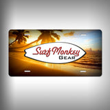 Custom License Plate / Vanity Plate with Custom Text and Graphics Aluminum - SurfmonkeyGear  - 2